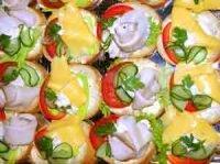 Красиво оформленные бутерброды
